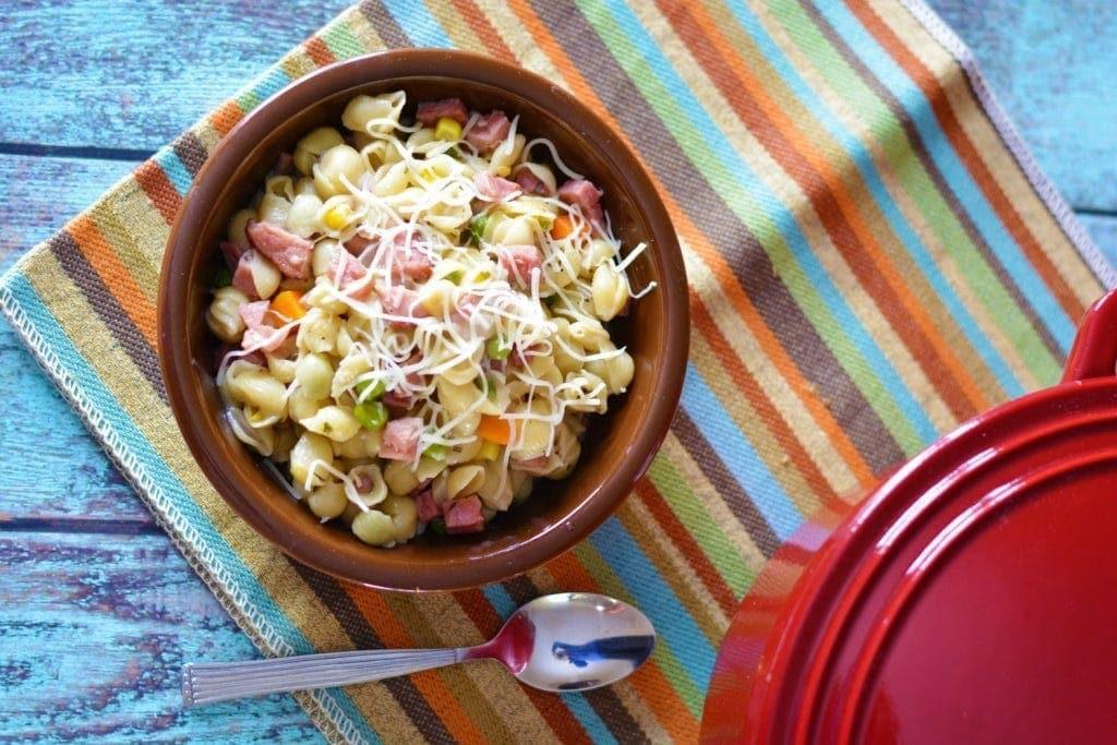 Cheesy One Pot Ham & Pasta Dish