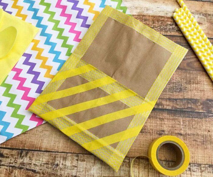 DIY Paper Bag Utensil Holder