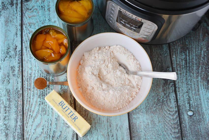 Instant Pot Peach Cobbler Ingredients, Instant Pot Peach Cobbler