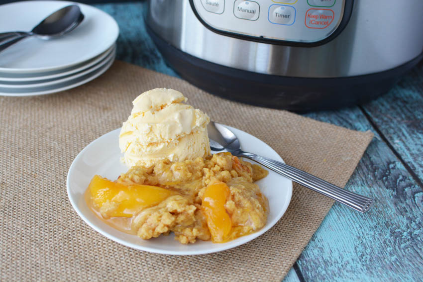 Instant Pot Peach Cobbler Recipe