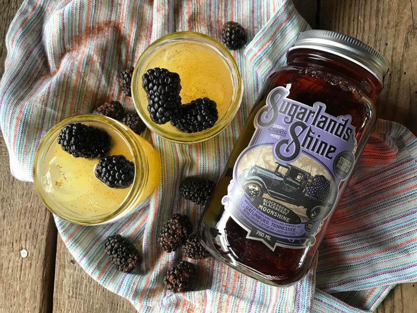 BLACKBERRY SUNSET: 2.5 oz Blockaders Blackberry 3 oz Pineapple Juice Top with dash of cayenne pepper