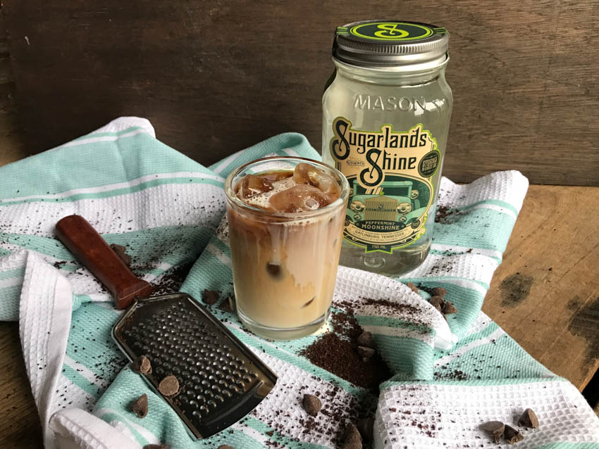 Dark Chocolate Cold Brew Cocktail Simply mix 1 oz Mint Condition Peppermint Moonshine, 1.5 oz Dark Chocolate Coffee Sipping Cream, .5 oz Half and Half, and 4 oz Premium Cold Brew Coffee