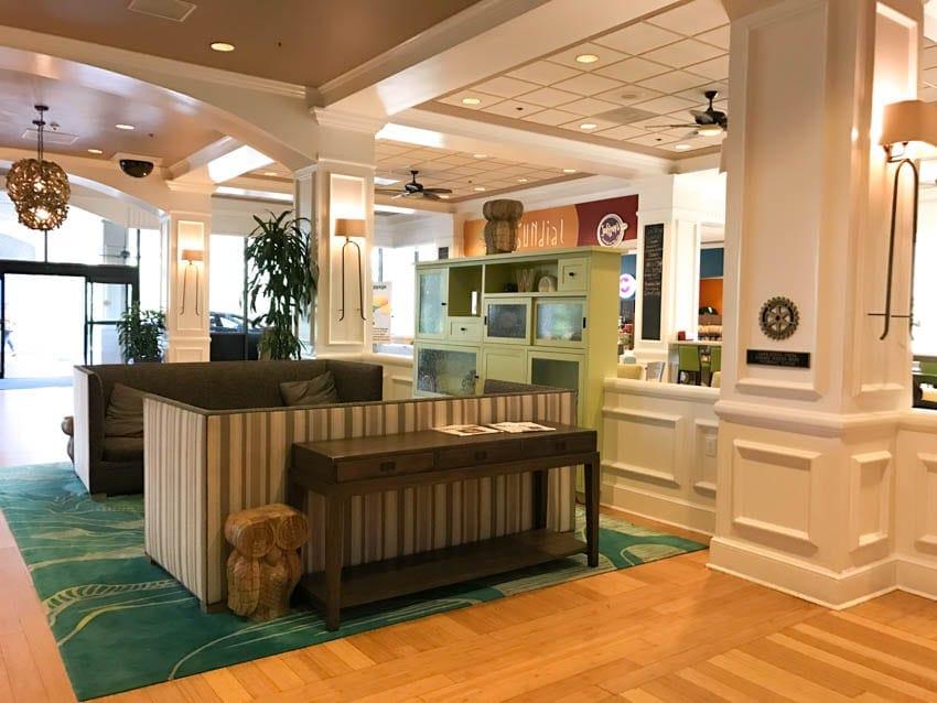 Lobby of Wyndham Disney Springs