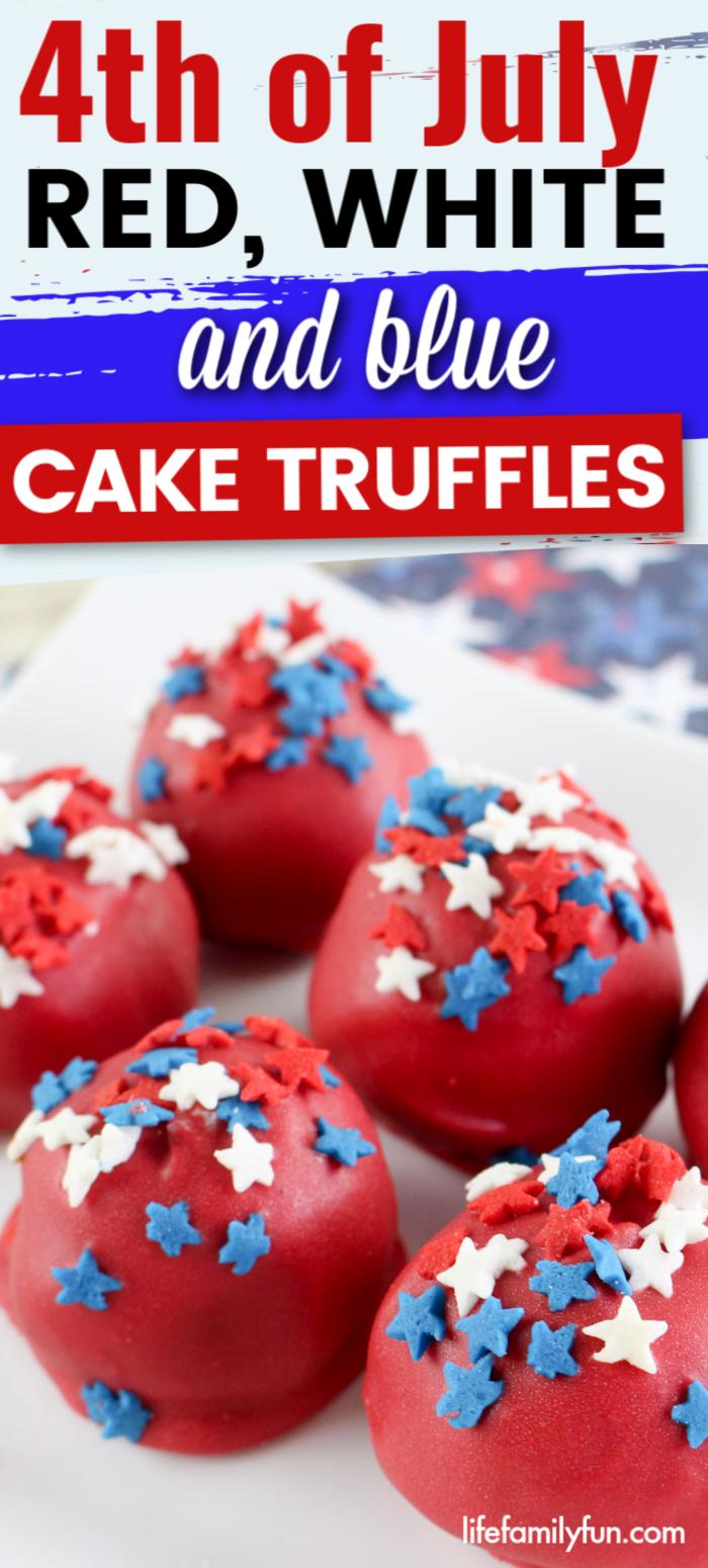 4th of July Cake Truffles