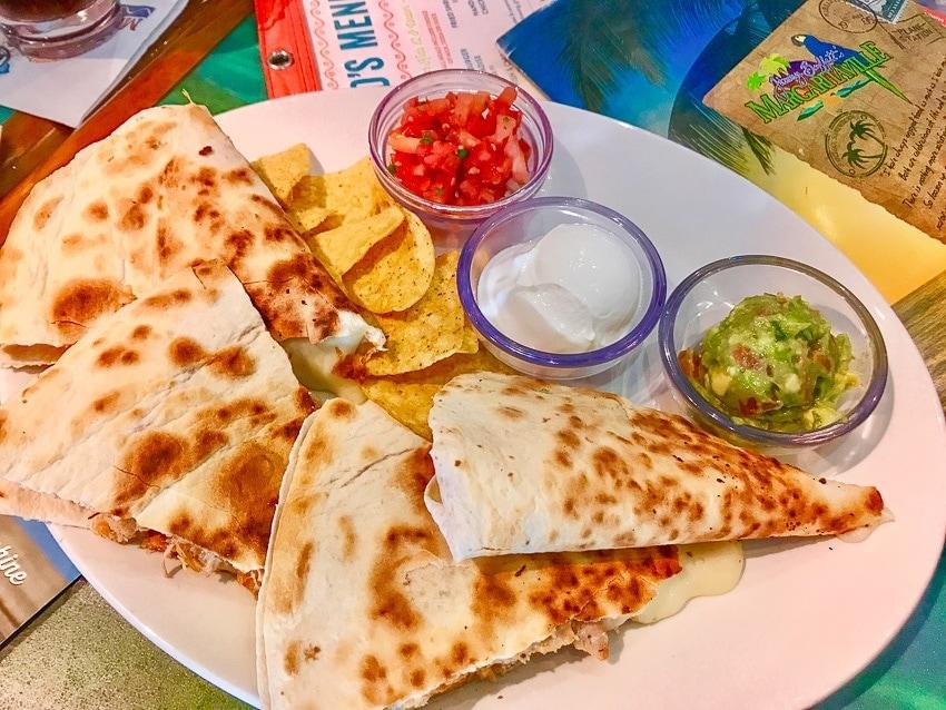 Chicken Quesadillas from Margaritaville