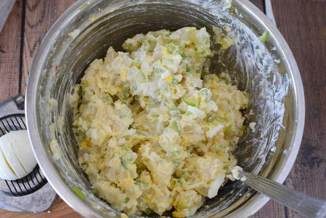 Potato Salad Made With Celery and Onion