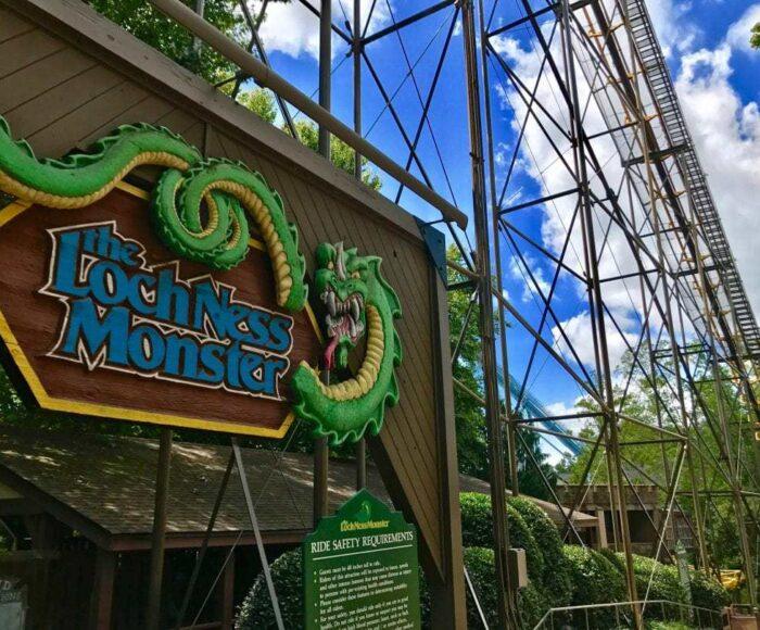 The Lochness Monster Roller Coaster at Busch Gardens in Williamsburg