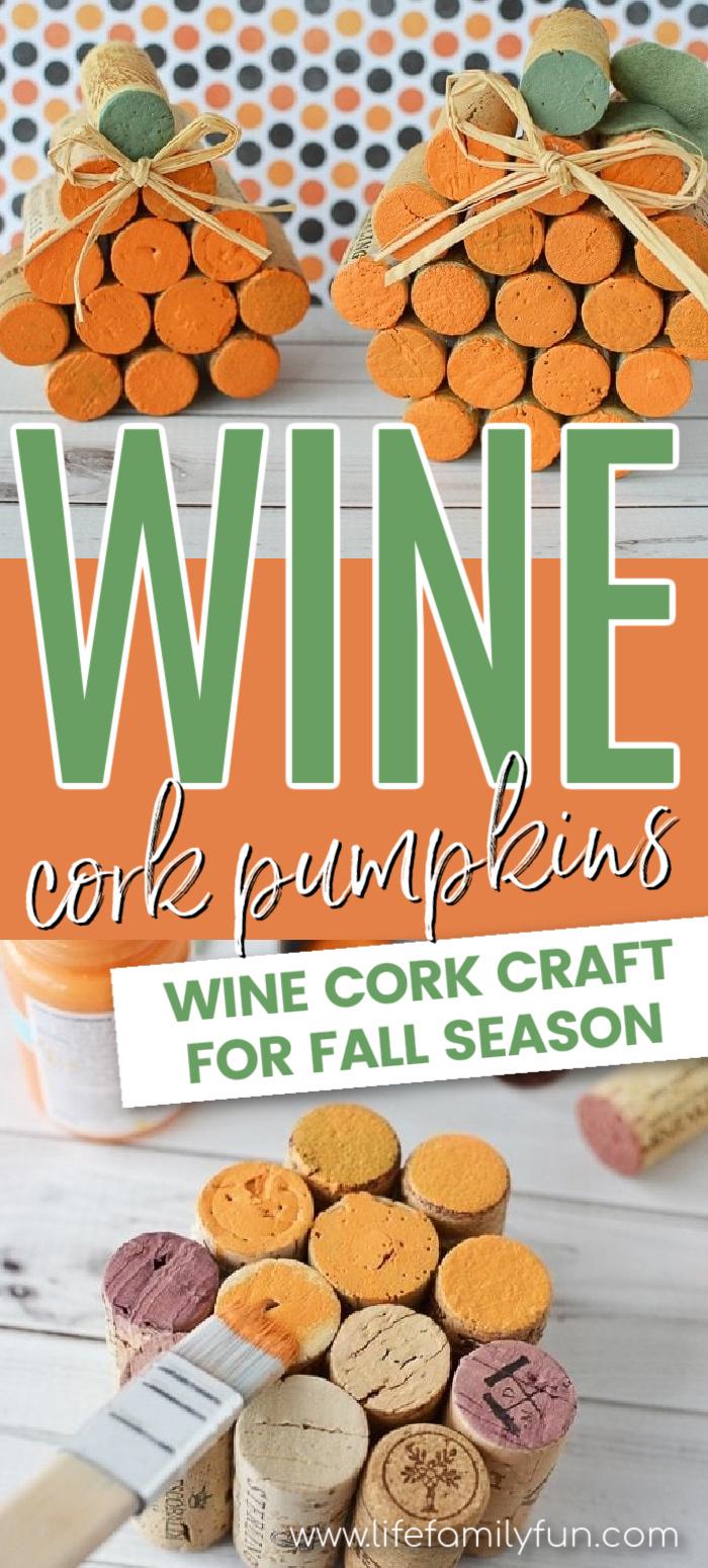 Pumpkin Wine Cork Craft
