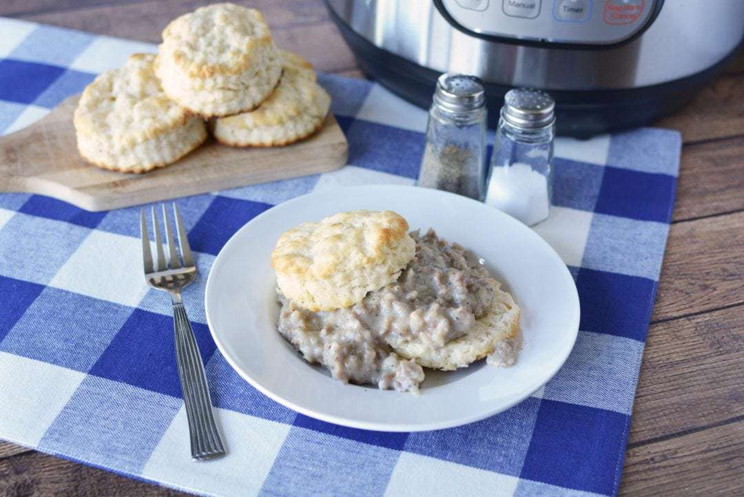 Instant Pot Biscuits and Gravy recipe