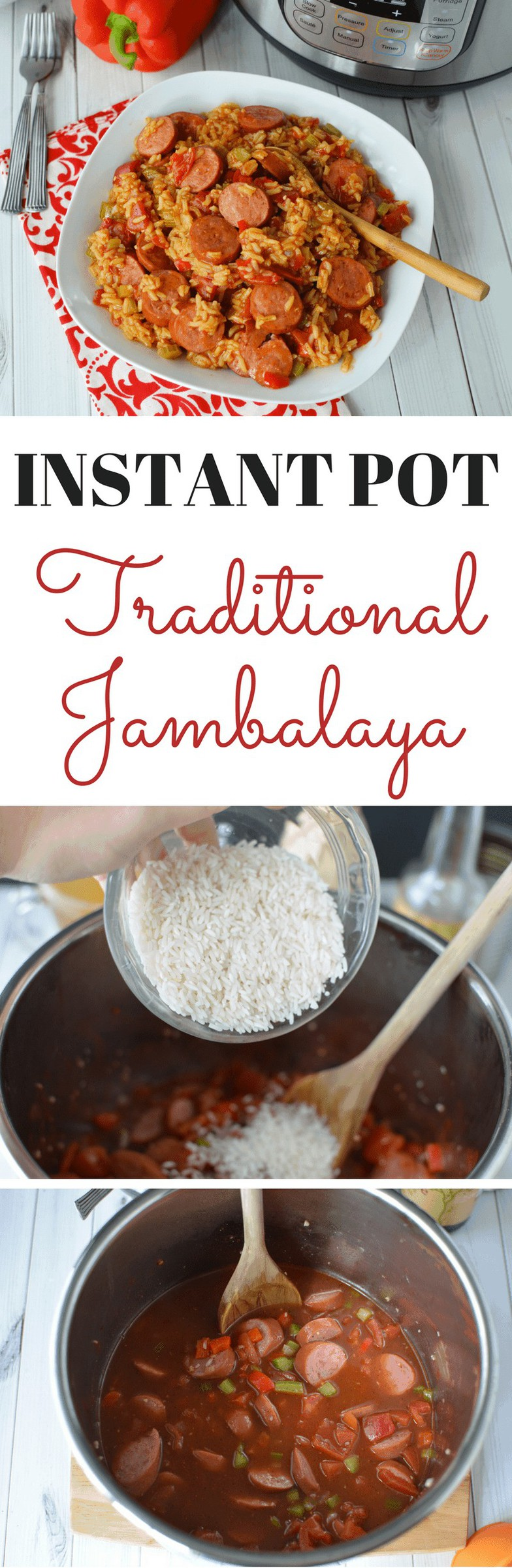 Serve your family this hearty Instant Pot Jambalaya for a hearty Winter dinner. The Southern recipe is one your whole family will love. #InstantPot #IP #JambalayaInstantPot https://lifefamilyfun.com/instant-pot-jambalaya/