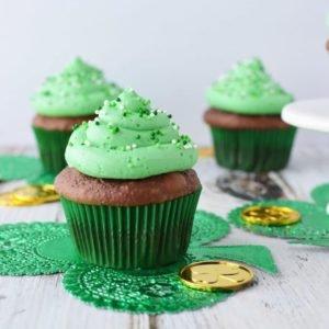 Irish cream cupcakes, bailey's Irish cream cupcakes, Irish cream chocolate cupcakes