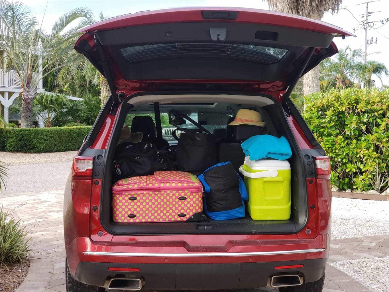 Chevy Traverse Storage Space, Chevy Traverse Car Review, 2018 Chevy Traverse