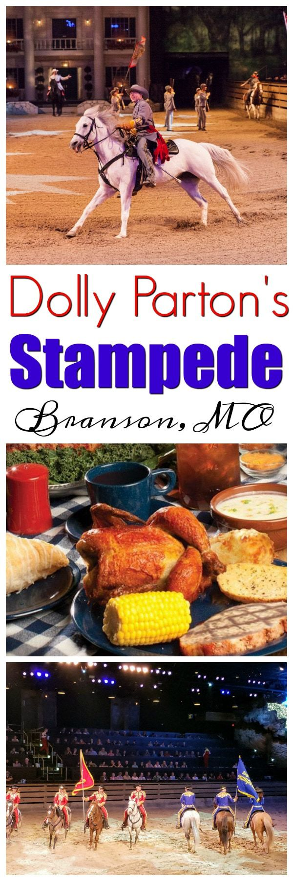 Dolly Parton's Stampede in Branson, MO: If you are planning a trip to Branson, and are looking for great entertainment and delicious southern food combined, then give the Dolly Parton's Stampede some serious consideration. This show will be a high-light of your Branson vacation. The Dolly Parton's Stampede is a dinner theater like no other.