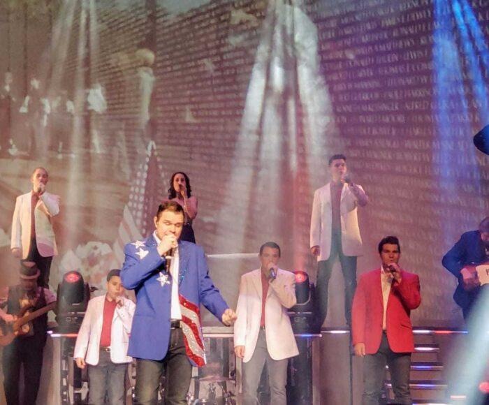 clay Cooper singing patriotic songs