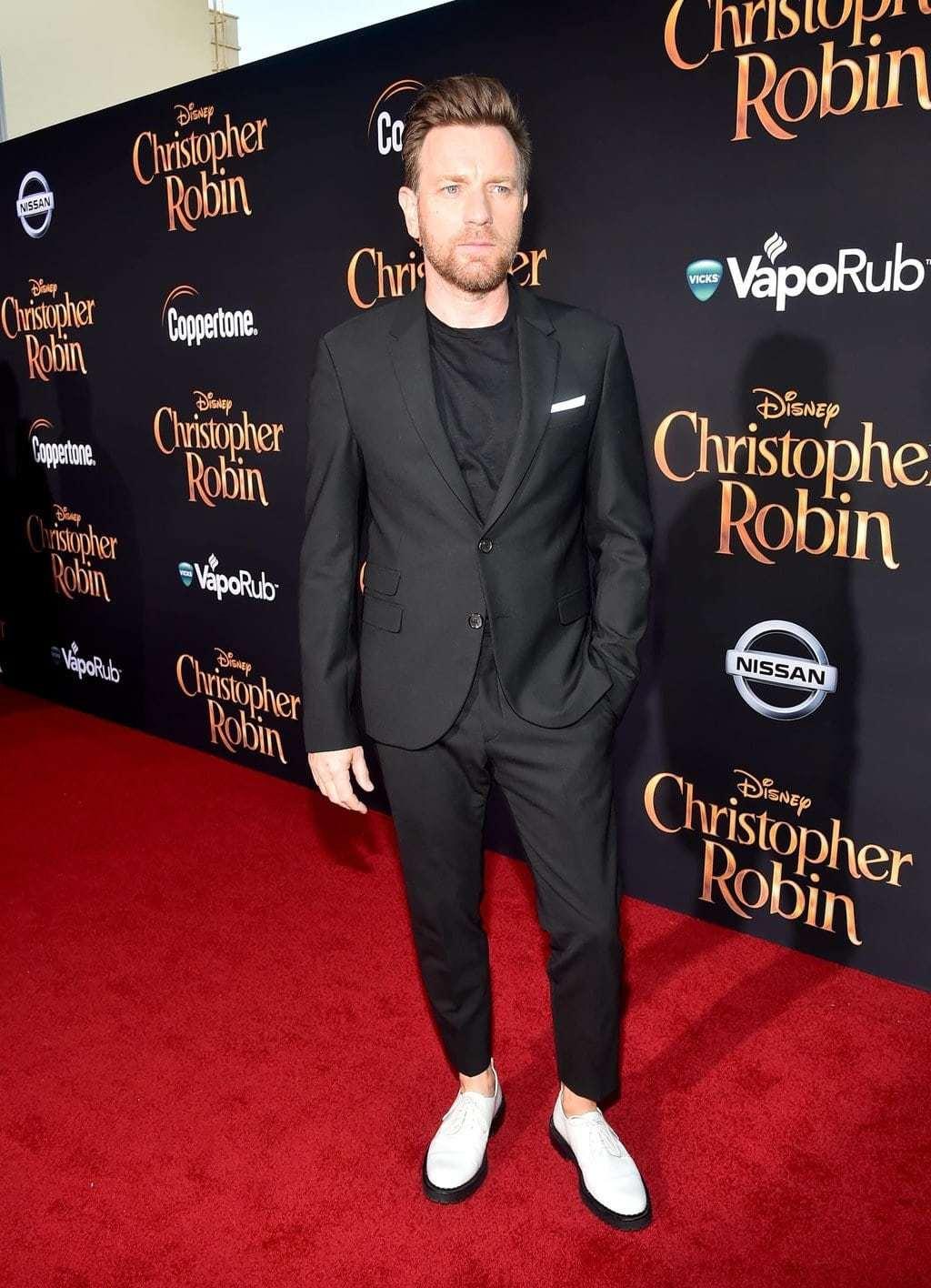 Ewan McGregorat Disney's Red Carpet for Christopher Robin