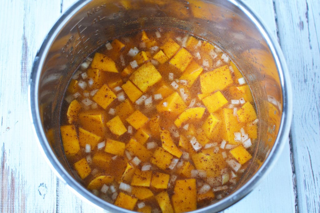 How to make butternut squash soup in the instant pot