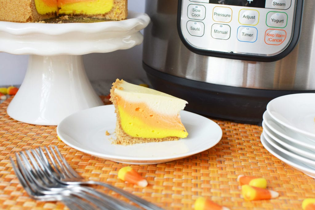 Instant Pot Candy Corn Cheesecake, Candy Corn Cheesecake