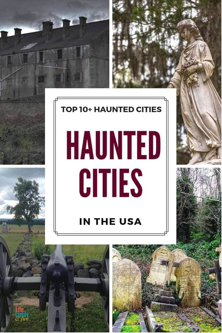 """Here are the Top 10 haunted citiesto explore in the US, with some creepy and scary """"haunts"""" to check out! Are you brave enough?"""