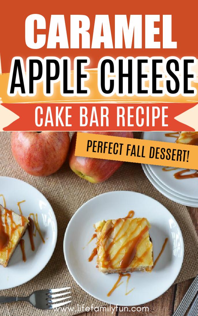 apple cheesecake bar pin for Pinterest