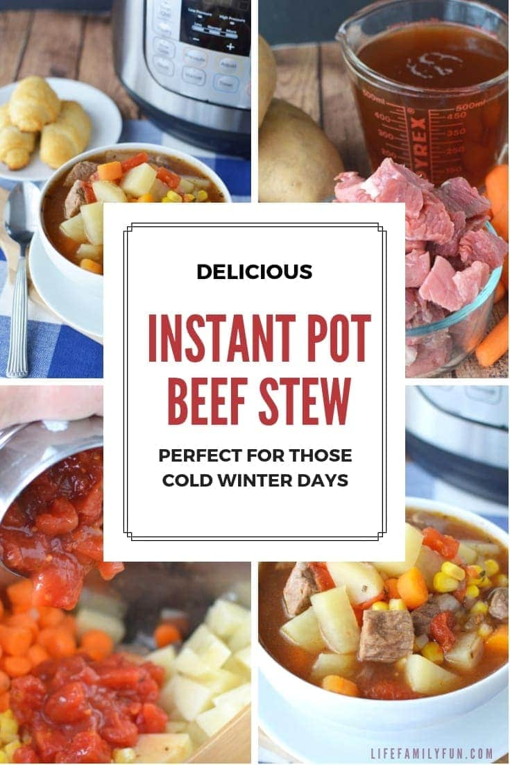 This Instant Pot Beef Stew Recipe uses basic ingredients like beef, potatoes, carrots, and more – This Instant Pot Beef Stew is a classic winter recipe perfect for those cold days. #InstantPotRecipe #InstantPotBeefStew https://lifefamilyfun.com/instant-pot-beef-stew/
