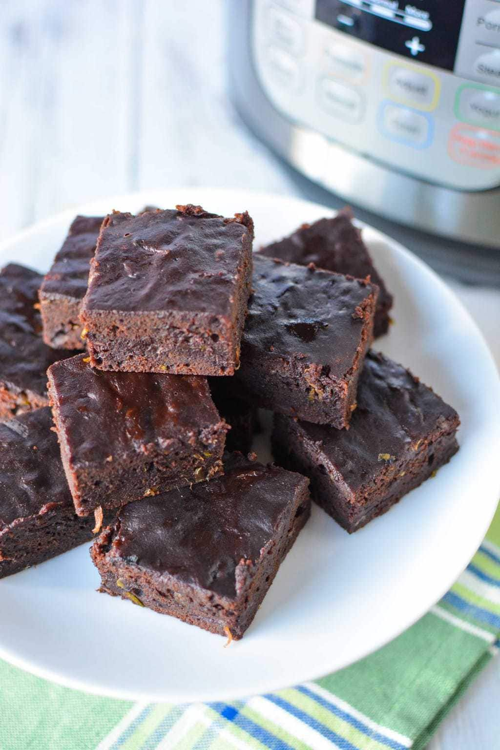 Instant Pot Chocolate Zucchini Brownies