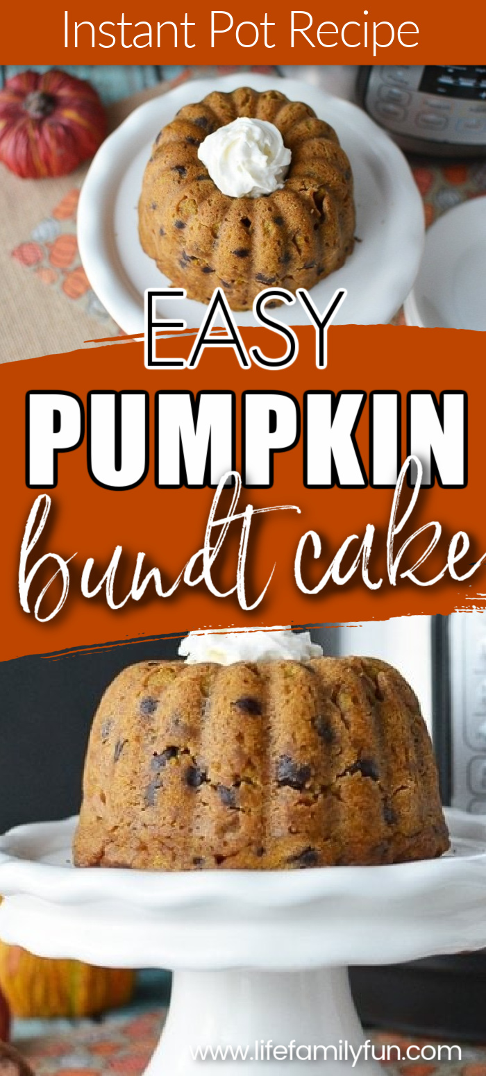 instant pot pumpkin bundt cake - pin for pinterest