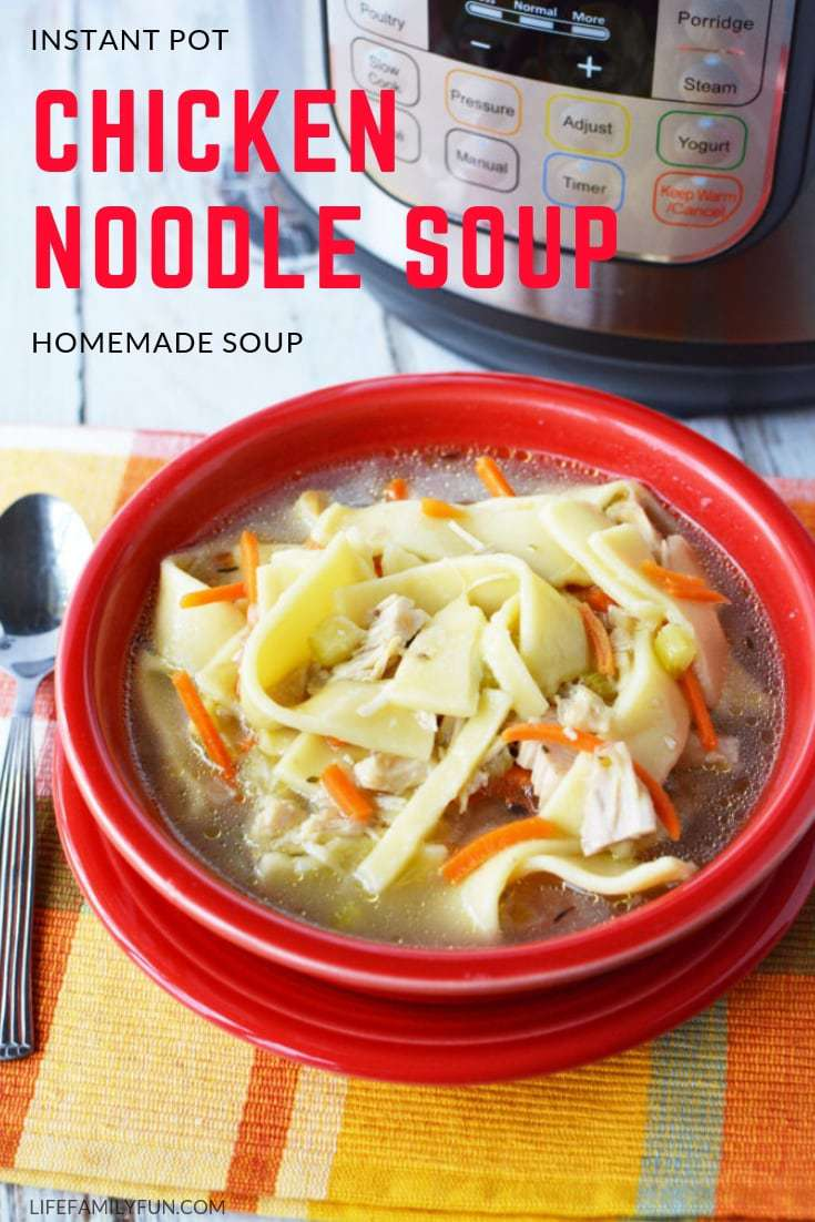 When those outdoor temperatures start to drop, there's nothing better than a nice big bowl of Instant Pot Chicken Noodle Soup. Your Instant Pot does all the hard work for you! While this IP Chicken Noodle Soup tastes great for dinner, rest assured that it's also just as tasty as a leftover lunch or dinner the next day as well. If it were an option to eat a hearty soup for a meal every night during the cold, cold winter months, would you?