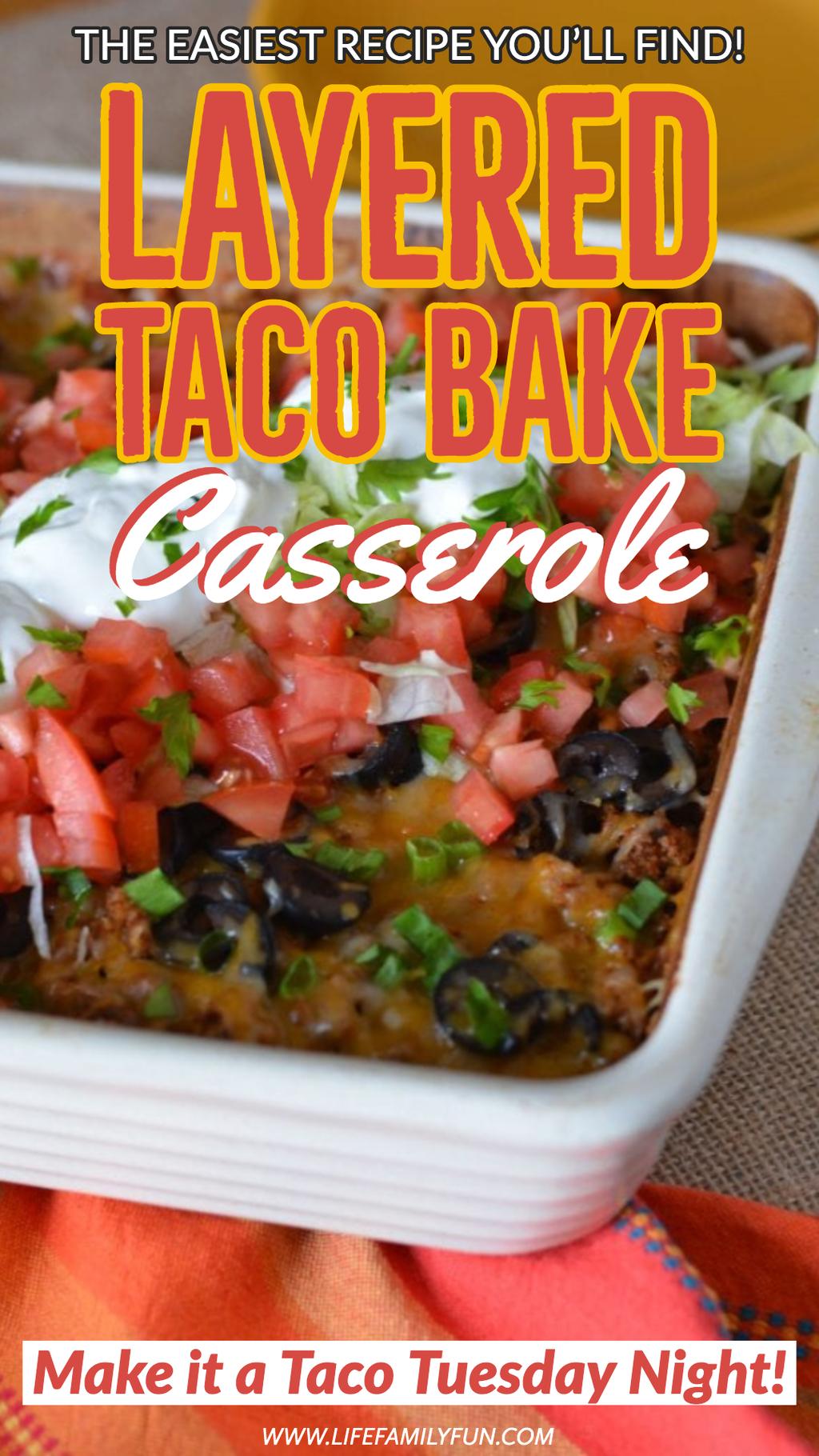 Pin for Taco Bake Casserole Recipe