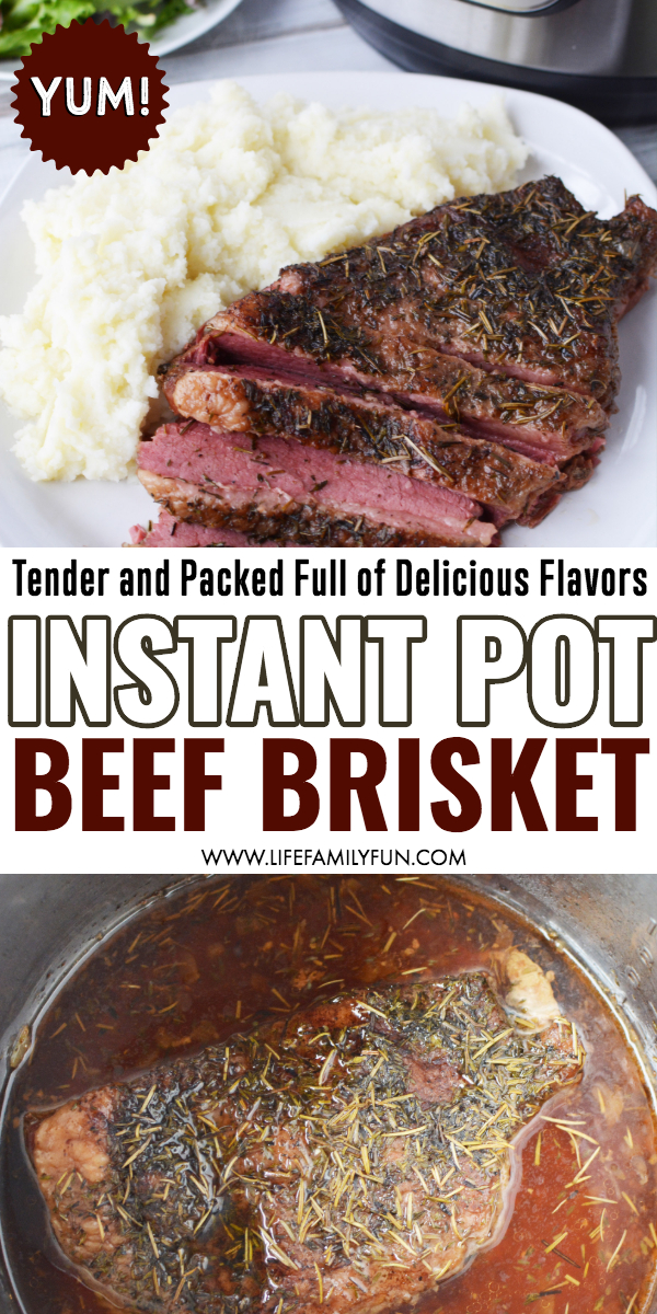 Instant Pot Beef Brisket - Do you love the incredible flavors of a beef brisket but don't want to mess with hours and hours of grilling or smoking? A tender, delicious slice of meat that slides right off your fork? Check out this most amazing Instant Pot Beef Brisket recipe for a faster alternative to a barbeque favorite. #InstantPotBeefBrisket #BeefBrisket #InstantPotRecipes