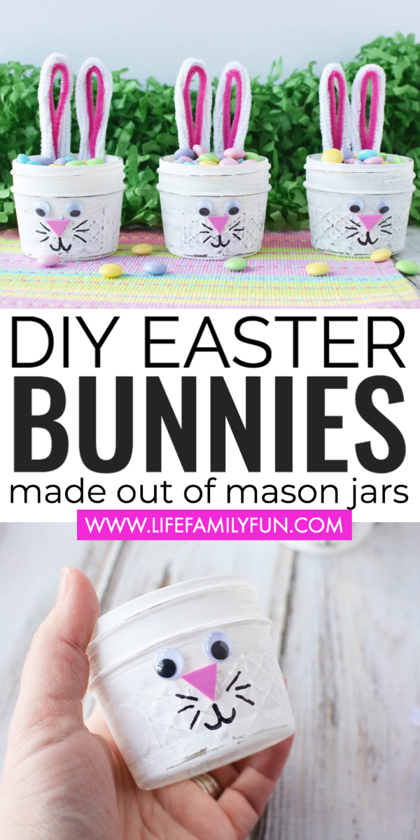 DIY Easter Bunny Jars- An Adorable and Easy Craft for Spring