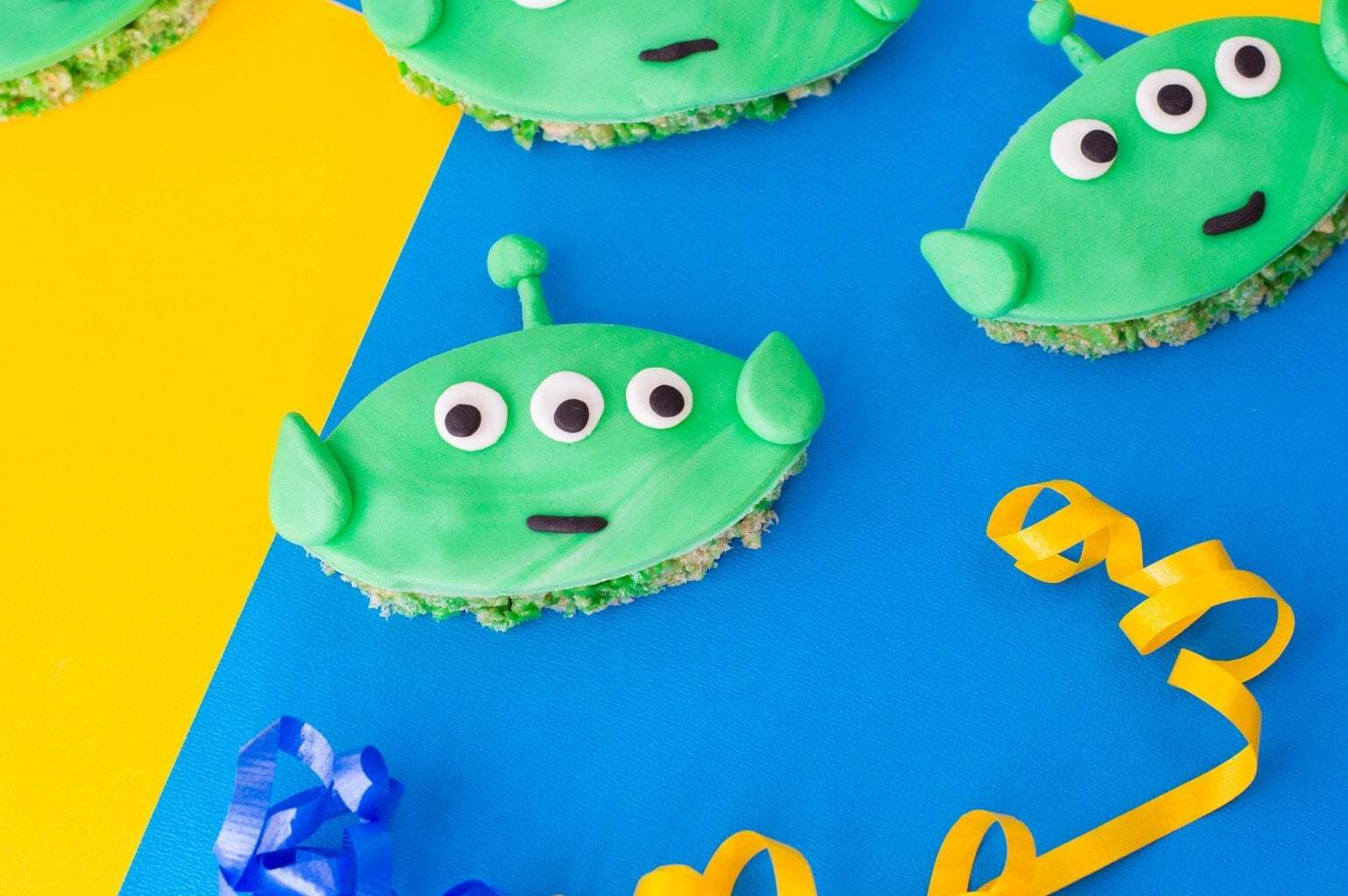 Toy Story Treats made with Rice Krispies