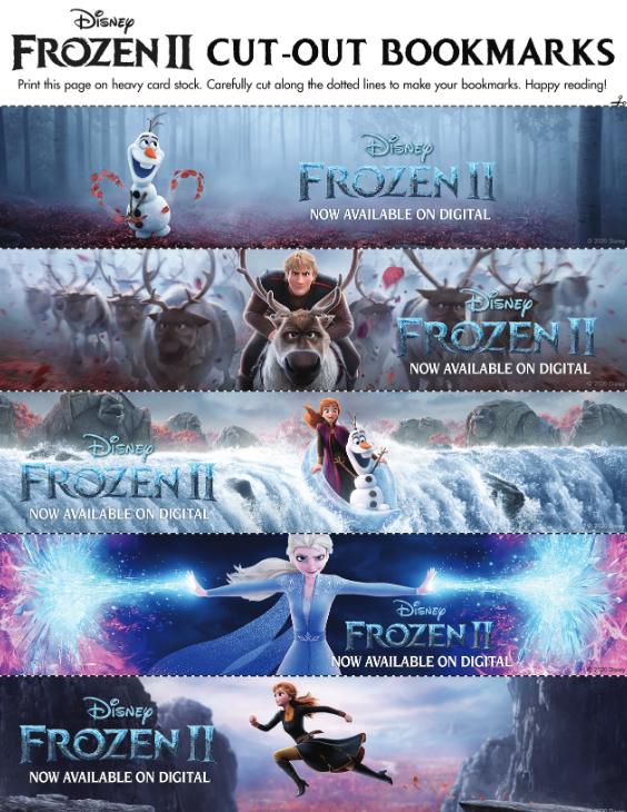 Disney Frozen 2 Bookmarks