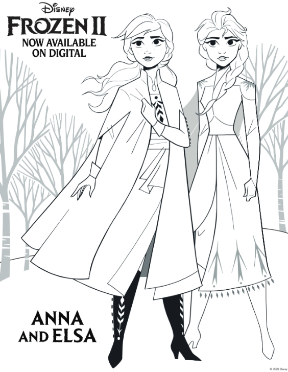 Disney Frozen 2 Activity and Coloring Sheets