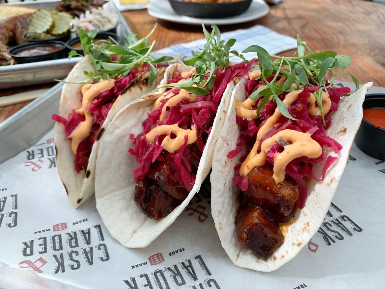 Cask and larder Pork Belly Tacos