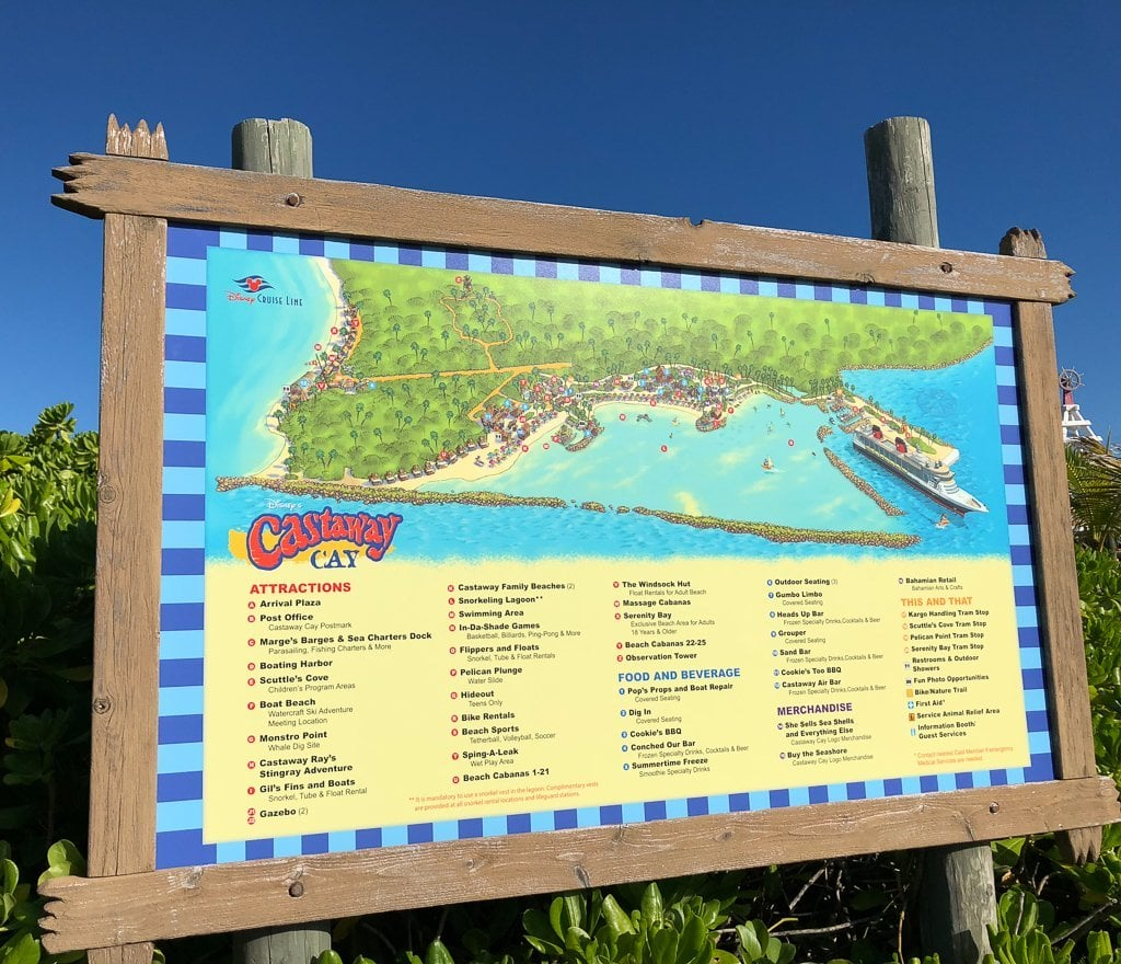 Castaway Cay Attractions, Food, and Merchandise