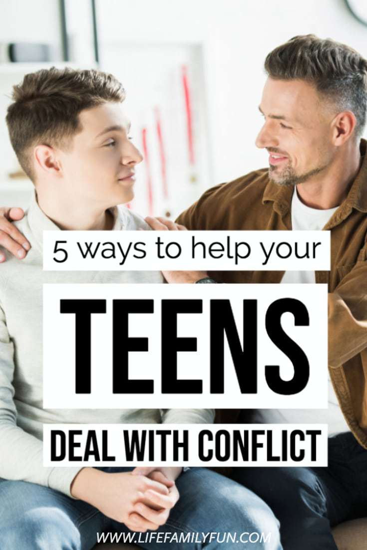 Helping your teen deal with conflict