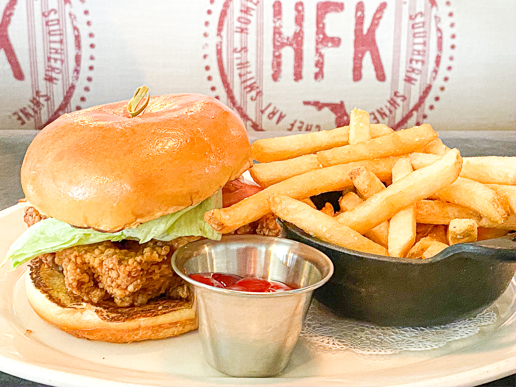 Homecoming Kitchen in Disney Springs - Chicken Sandwich and Fries