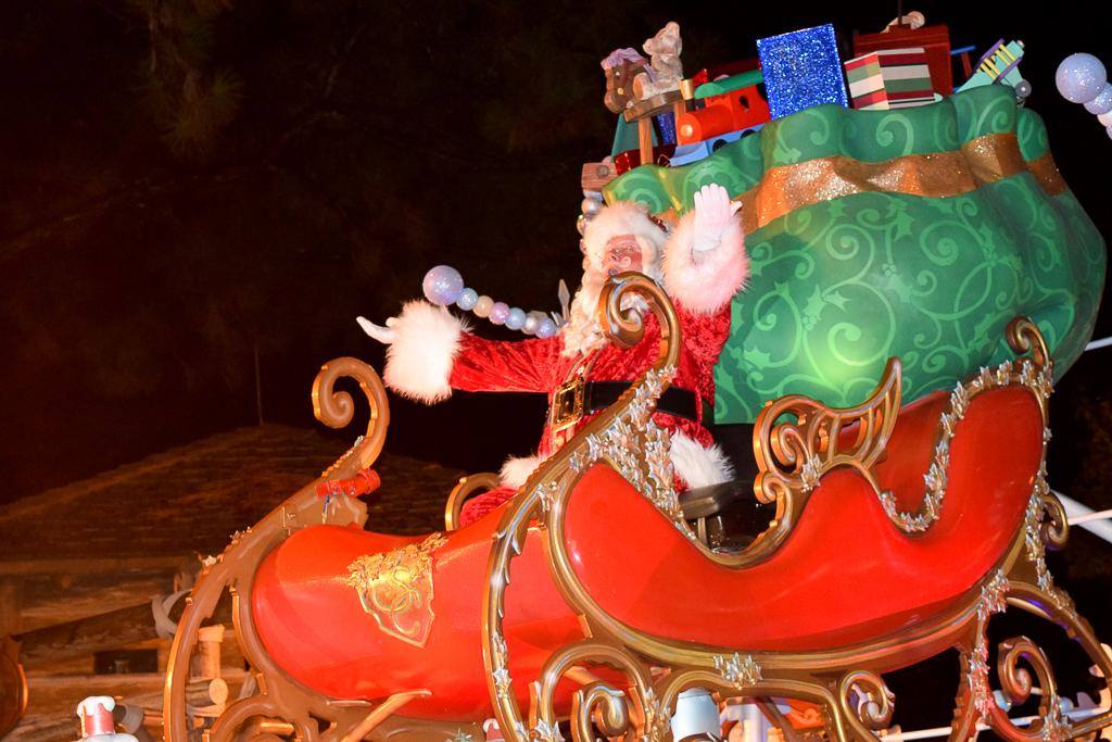 Santa Claus at Once Upon a Christmastime Parade