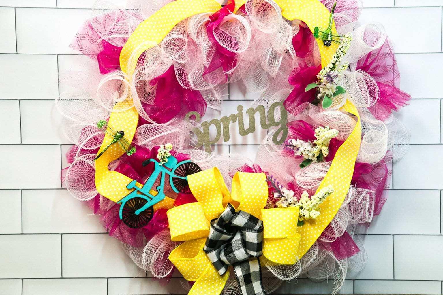 Spring Wreath Deco Mesh Ribbon