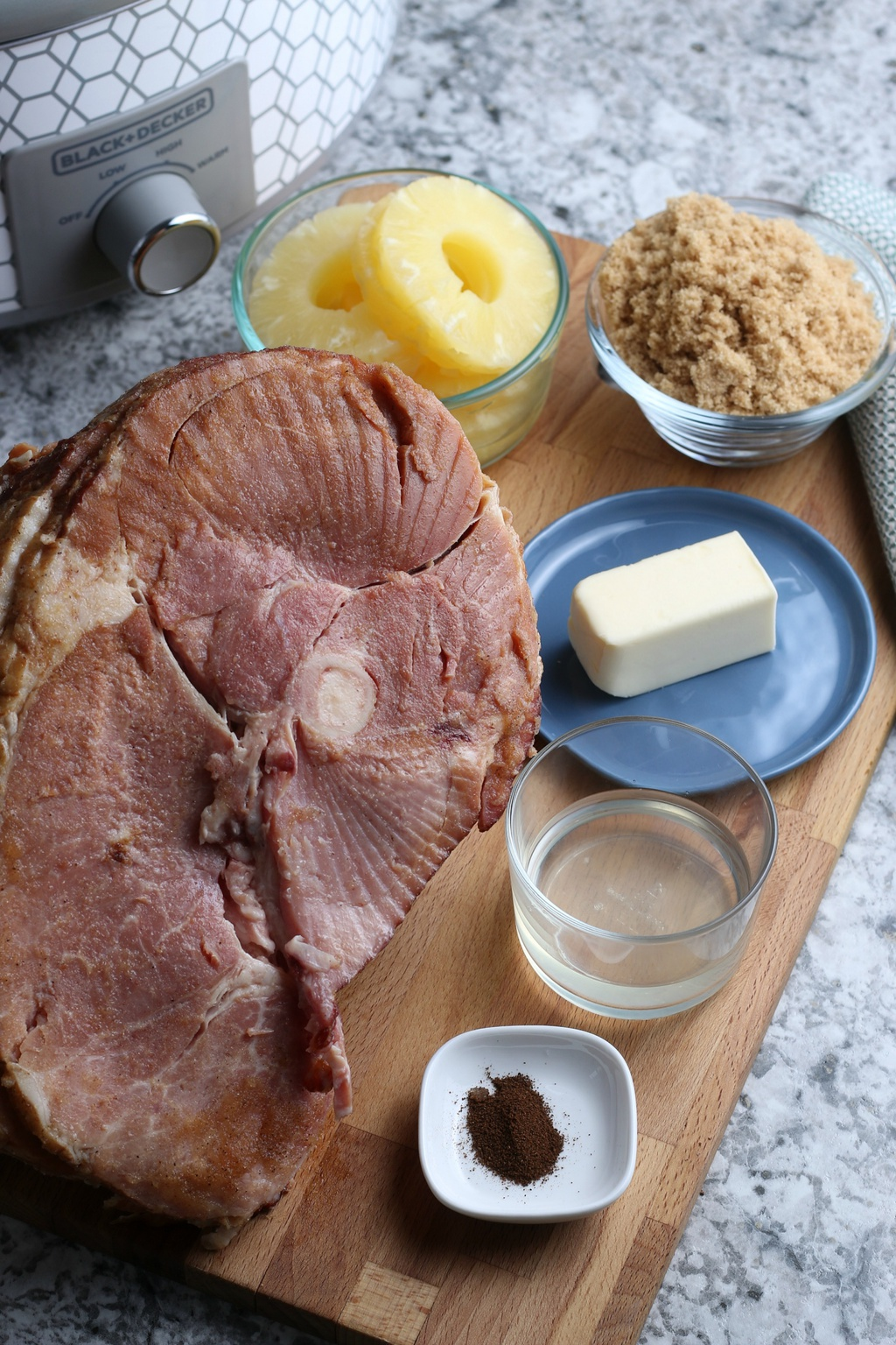 Crockpot Ham, Holiday Ham, Spiral Ham with Pineapple and Brown Sugar