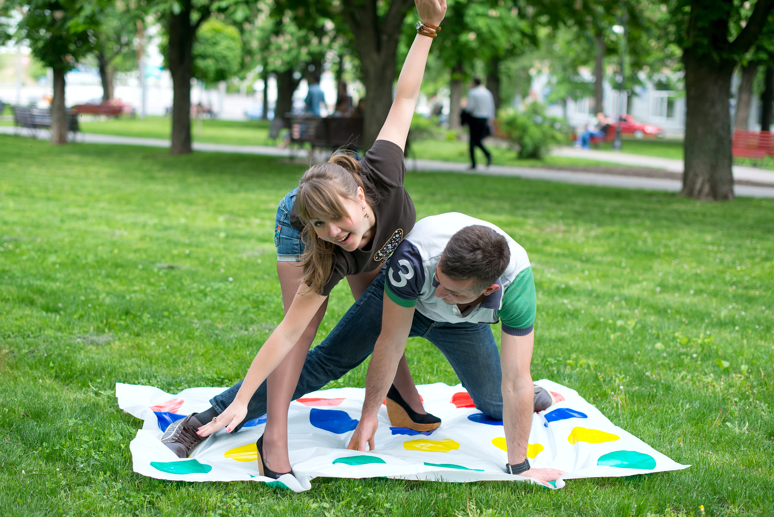 Fun Games for Teens Playing Twister