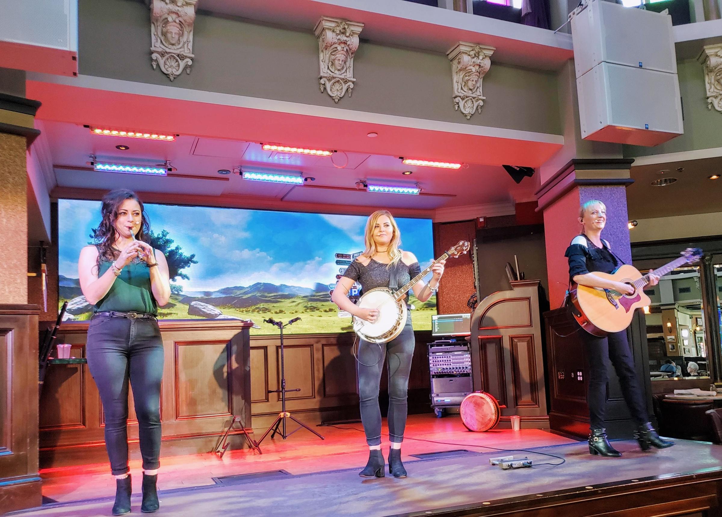 Ragland Road singers on stage
