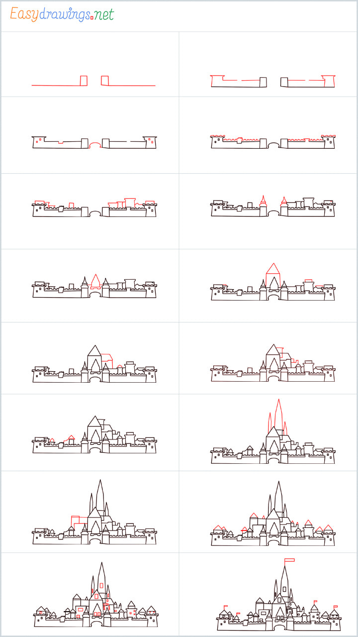 things to draw a disney castle