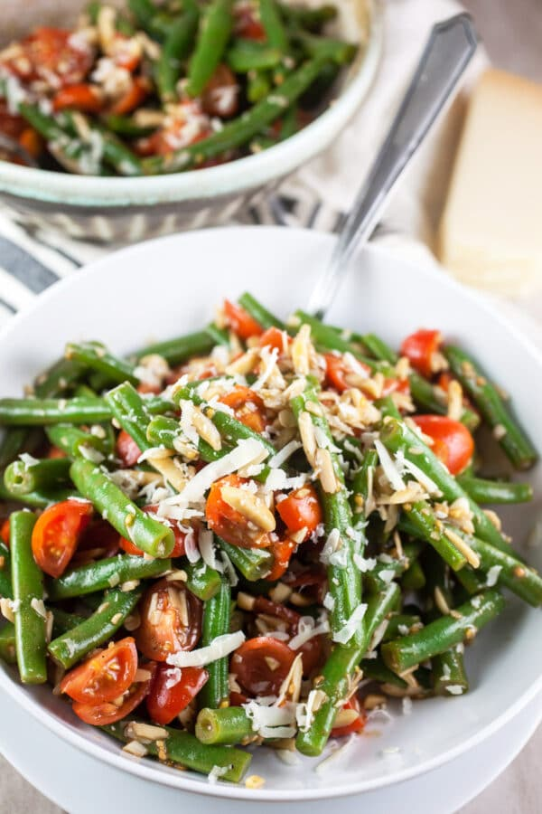 Balsamic Green Bean Salad with Tomatoes