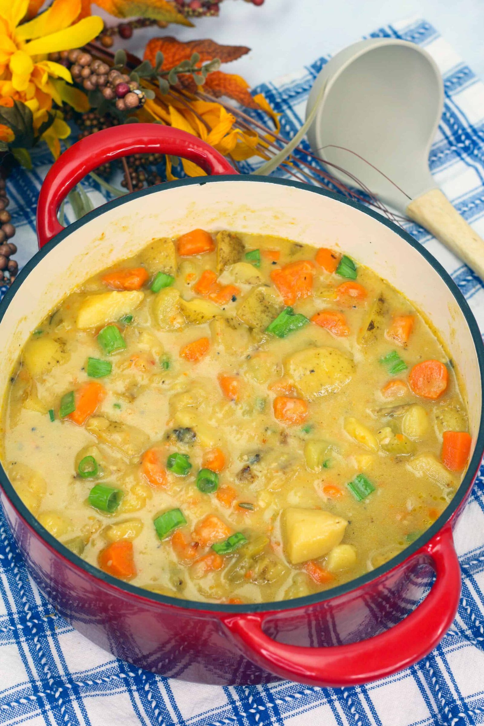 Cheesy Potato Dutch Oven Stew