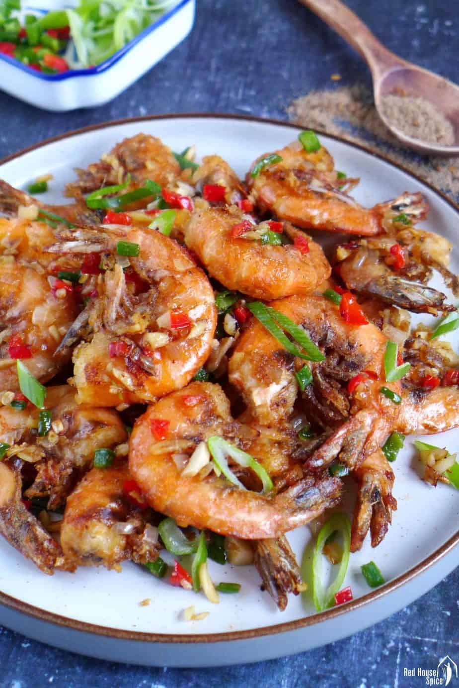 Chinese Salt and Pepper Fried Shrimp