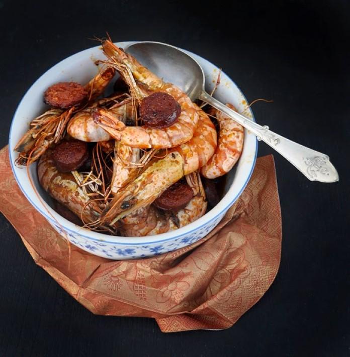 Chorizo with Prawns Fried Shrimp