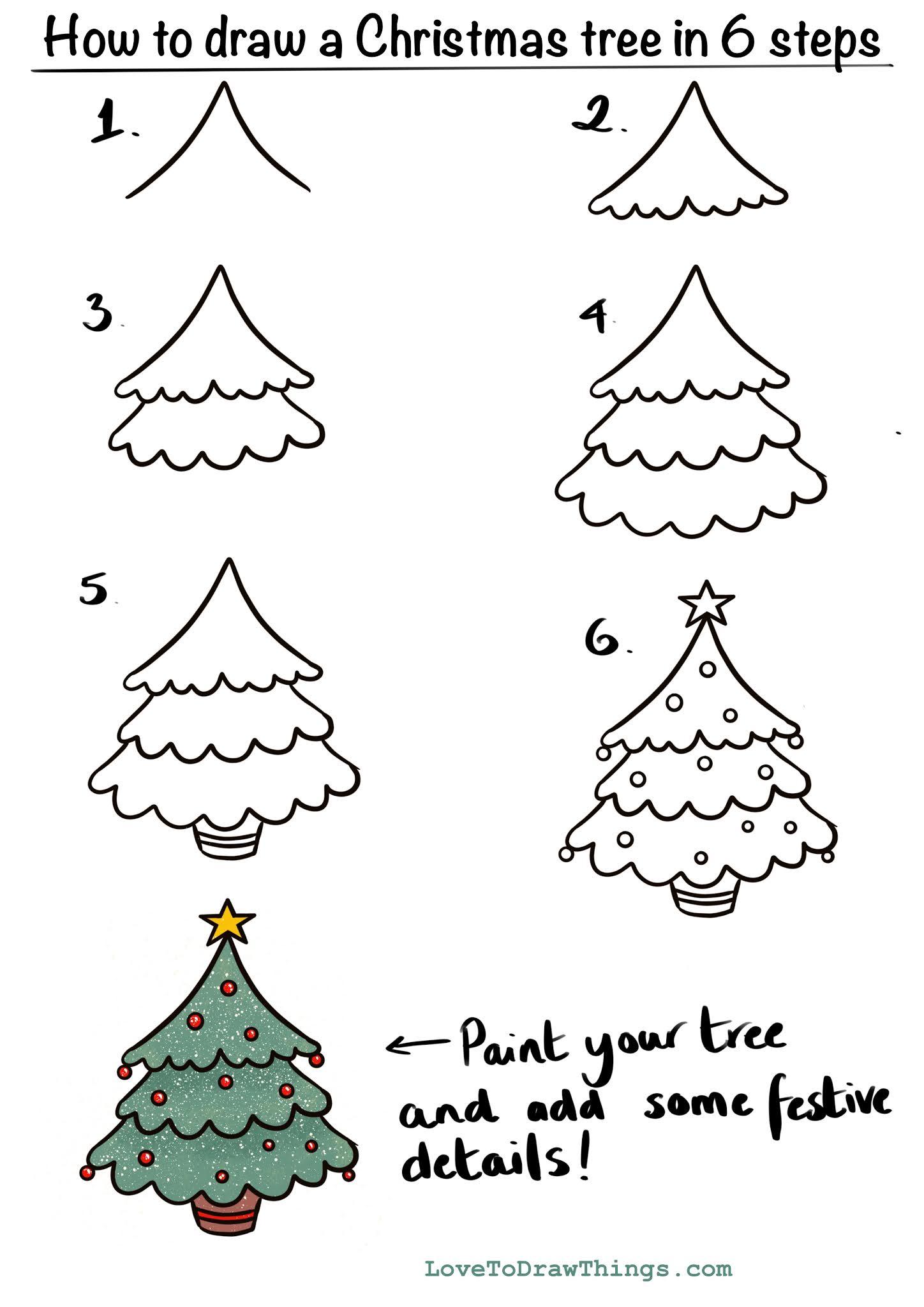 things to draw christmas tree