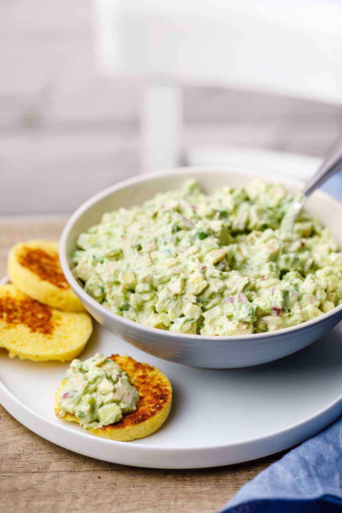 keto chicken salad Creamy Avocado Chicken Keto Salad