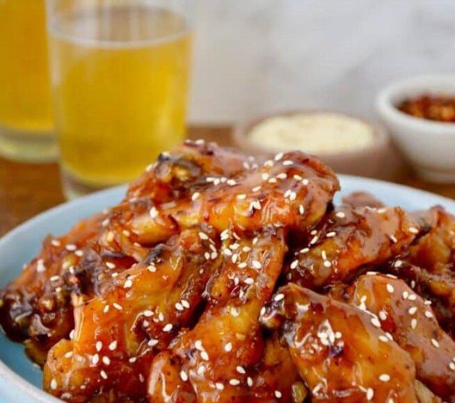 Crispy Baked Orange Chicken Wings